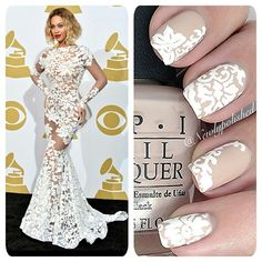 For those of you who haven't seen @beyonce's dress from the Grammys, here it is! Such a pretty gown  /Elli