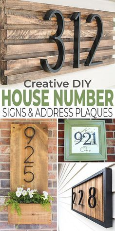 Creative Diy House Number Signs Address Plaques House Numbers