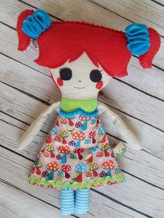 Plush Softie Doll Aria by MsBittyKnacks on Etsy