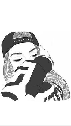 Black and white outline pictures gallery images) Tumblr Girl Drawing, Tumblr Sketches, Tumblr Drawings, Girl Drawing Sketches, Girly Drawings, Girl Sketch, Couple Drawings, Easy Drawings, Tumblr Outline