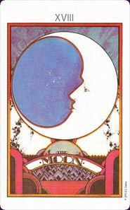 The Moon from the Aquarian Tarot deck.