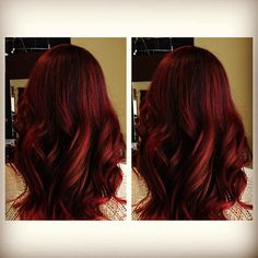 Rich red hair for Fall  @Debbie Arruda Arruda Arruda Lewis Style Products 25mm best wand ever.