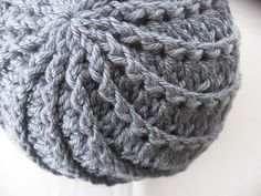 Love the spiral effect crochet hat patterns, spirals, shells, crochet hats, stitch, crochethat, crochet tops, spiral hat, crafts