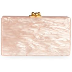 Edie Parker JE0001 Light Pink Jean Solid Clutch (7.910 NOK) ❤ liked on Polyvore featuring bags, handbags, clutches, bolsas, borse, evening purse, evening box clutch, special occasion clutches, structured purse and light pink purse