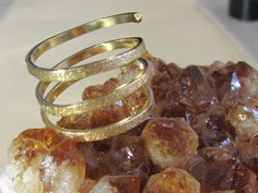 SPIRALE 18 carat gold vermeil twist Ring from Kalicat_designs Silber und Gold Schmuckdesign by DaWanda.com