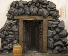 gold mine stage prop/ cave maybe? Cave Quest Vbs, Cave Entrance, Vbs Themes, Stage Props, Stage Set Design, Kobold, Vbs 2016, Vacation Bible School, Western Theme
