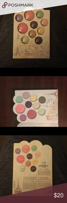 Sephora's Hello Kitty limited edition palette. Sephora's beautiful limited edition blush & eyeshadow palette. Comes with 2 blushes, and 8 eye shadows. Croissant can be used as a highlighter too. Gorgeous colors that can create many looks.  You'll definitely get a lot of use out of this palette.  I'm always open to offers. SORRY, NO TRADES. Thank you for looking. Heather Sephora Makeup Eyeshadow