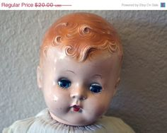 Now 20% Off Vintage Sleeping Eye Doll - Creepy Coolness