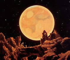 "Chesley Bonestell The ""Father of Modern Space Art"", Chesley Bonestell (1888-1986)- M̲elt"