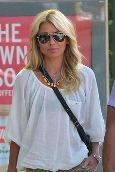 Kelly Ripa wears her Tom Binns Design Fauve Electro necklace out in Manhattan