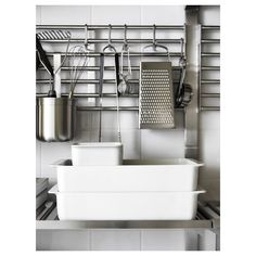 KUNGSFORS stainless steel, Wall grid - IKEA Kitchen Wall Storage, Ikea Kitchen, Buy Kitchen, Kitchen Worktop, Kitchen Countertops, Kitchen Carts, Kitchen Rack, Kitchen Cupboards, Recycling Facility