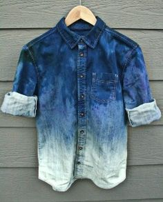 Ombre denim shirt.  Could definitely DIY.
