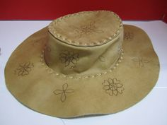 Your place to buy and sell all things handmade Hippie Hats, 70s Hippie, Period Movies, Leather Pieces, Cool Hats, Vintage Hats, Woodstock, Vintage Leather, 1960s
