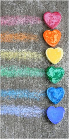 How to Make Your Own Vibrant Custom Shaped Sidewalk/Pavement Chalk