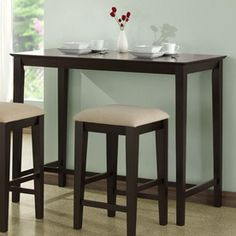 Monarch Specialties Cappuccino Rectangular Counter-Height Dining Table