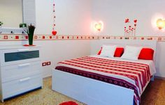 Red double room
