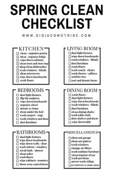 Spring cleaning checklist clean with me clean home chores free printable spring cleaning calendar
