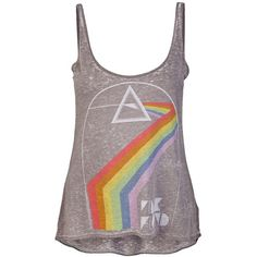 Chaser - Pink Floyd 'Empty Spaces' Tank ($50) ❤ liked on Polyvore featuring tops, shirts, tank tops, tanks, blusas, women, pink tank top, spaghetti-strap tank tops, graphic tank tops and scoop neck tank top