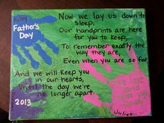 Sending to daddy for father's day...cutest poem ever!!