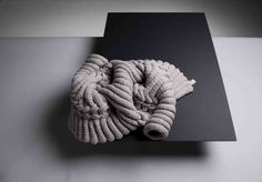 Knit sculpture by Sandra Backlund for Kasthall