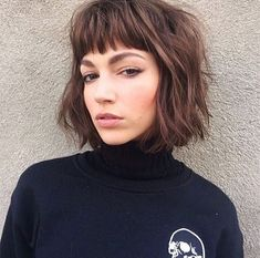 Best Short Layered Bob With Bangs Short Layered Bob Haircuts With Bangs.Love her brows, tooShort Layered Bob Haircuts With Bangs.Love her brows, too Layered Bob With Bangs, Short Layered Bob Haircuts, Short Hair Cuts, Short Bangs, Haircut Short, Curly Haircuts, Haircut Bangs, Wavy Bangs, Short Bob Fringe