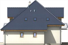 Elewacja ARD Kasztan 3 paliwo stałe CE Window Design, Dom, Outdoor Structures, Cabin, Windows, House Styles, Villas, Home Decor, Decoration Home