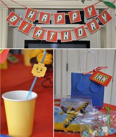 LEGO party!! Six Sisters' Stuff: 25 Creative Birthday Party Ideas for Boys