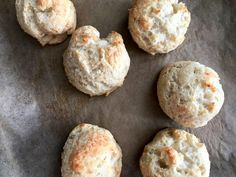 Garlic Parmesan Drop Biscuits (Two Ingredient dough) - Daily Dose Of Pepper