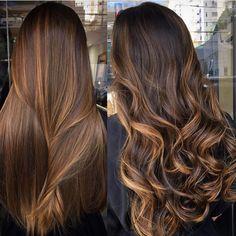 Balayage hair style ideas– Just Trendy Girls: Balayage Straight Hair, Brown Hair Balayage, Hair Color Balayage, Hair Highlights, Ombre Hair, Brown Straight Hair, Brunette Hair, Dyed Hair, Straight Hairstyles
