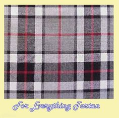 Thomson Grey Tartan Polyviscose Plaid Fabric Swatch  by JMB7339 - $20.00