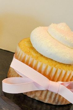 French Vanilla Cupcakes with Bavarian Cream and topped with Vanilla Swiss Meringue Buttercream