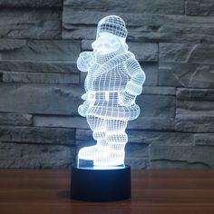 Santa Claus LED Night Light 7 Color illusion Novelty Lamp Children Kids Toys For Christmas Lampe Led, Led Lamp, Lamps, Led Night Light, Night Lights, Kids Toys For Christmas, Color Illusions, Save Energy, Color Change