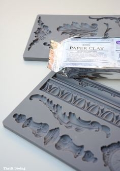 How to Add Vintage DIY Clay Mold Appliques on Furniture - Thrift Diving - Decorative molds Paint Furniture, Home Decor Furniture, Furniture Makeover, Vintage Furniture, Rustic Furniture, Cheap Furniture, Furniture Stores, Furniture Plans, Furniture Design