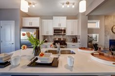 Check out Genesis Land! Kitchen design from one of their Arden showhome in Canals Landing, Airdrie. Mirror, Furniture, Home Decor, Kitchen Designs, Calgary, Landing, Check, Copper, Gourmet