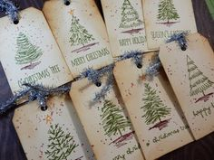 12 Days of Christmas Tags | Day 9 of 12 | Tim Holtz Scribbly Christmas