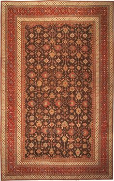 "Antique Agra Oriental Rug 41340 15'2"" x 23'8"""