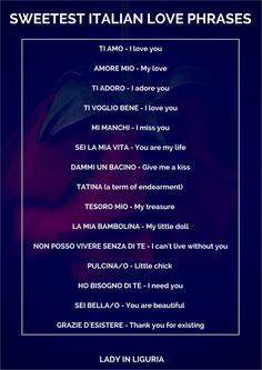 Italian Love Phrases, Kiss, Te Amo, Italian Love Quotes, Kisses, A Kiss