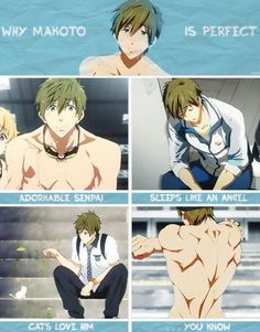 My sister and I referred to him as the 'Anime Tom Hiddleston' he's nice and hot and all the girls dig him.>>>omg the perfection in 'anime tom hiddleston' Anime Boys, Hot Anime Guys, Anime Manga, Makoto Tachibana, Makoharu, Rin Okumura, Anime Sexy, Noragami, Nagisa Free