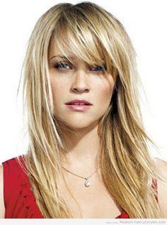 medium hairstyles with bangs tumblr (1)