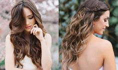 Bride Hair Inspiration for Long Hair