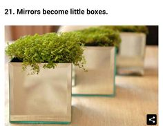 Dollar tree mirrors turned into boxes