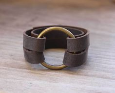 DIY Leather O-Ring Bracelet - inspired by a bracelet Joanna Gaines wears on HGTV Fixer Upper