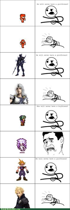 Final Fantasy. yes eat it all FF characters get their significant other whoop whoop! And you think FF aren't cool !!!!