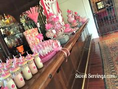 Candy Table  by http://www.sweetservings.com http://www.facebook.com/sweetservings