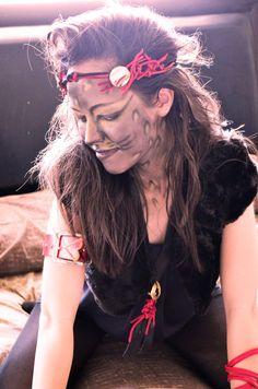 Boho Hippie Coachella Headband Leather Jewelry by theELEPHANTpink, $15.50