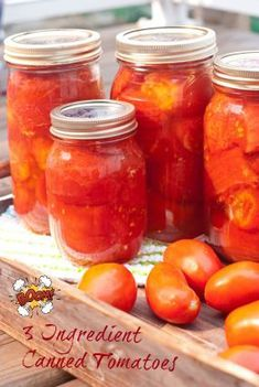 3 ingredient, real food, paleo friendly: Caveman Canned Tomatoes are so easy! DIY for canning tomatoes! Feel good about dinner when adding these homemade canned tomatoes to the recipe!