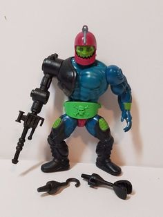 Vintage He-Man MOTU Masters of the Universe Action Figure Trap Jaw Complete Toy #Mattel