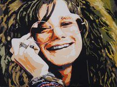 Art Quilt by Dorte Jensen, Janis Joplin, 60 x 80 cm www.stofbilleder.dk Facebook: https://www.facebook.com/pages/Stofbilleder/298536300198776?bookmark_t=page