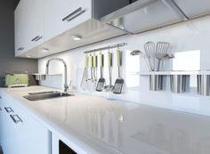 Image result for white quartz countertops