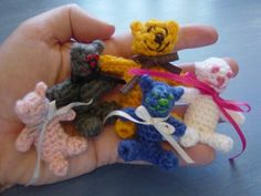 five tiny teddies by Flushed with Rosy Colour